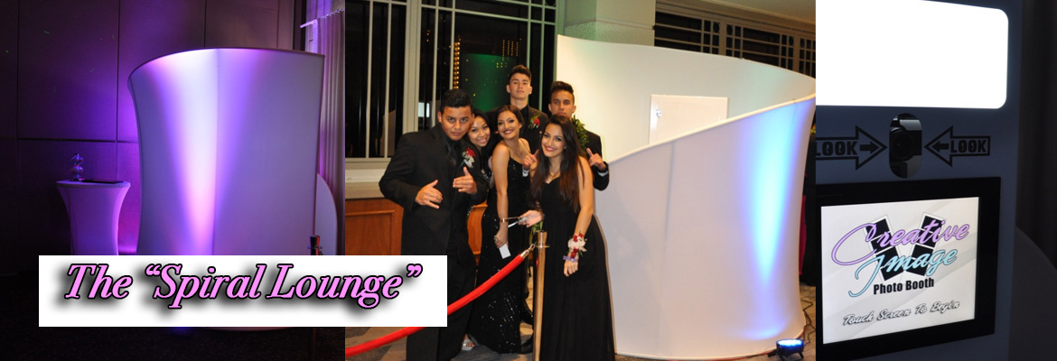 Creative Image Photo Booth - Spiral Lounge slider